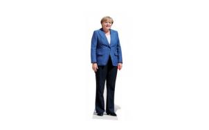 Angela Merkel Pappfigur verrückte lustige Geschenkidee
