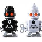 Geschenkideen und Gadgets finden - Salz- und Pfefferstreuer Roboter