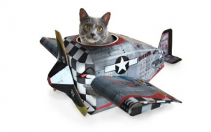 Geschenkideen und Gadgets finden - Spielhaus für Katzen - faltbares Flugzeug