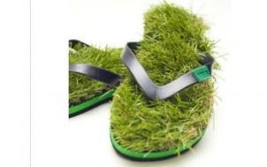 Gras Flip Flops + was schenke ich meinem Freund + Geschenk Idee
