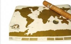 Rubbel Weltkarte + was schenke ich meinem Freund + Geschenk Idee