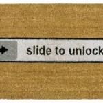 Slide To Unlock Türmatte + Witzige Geschenke + lustige Geschenkideen