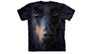 geschenk für ehemann gesucht - Doberman Hundegesicht T-Shirt
