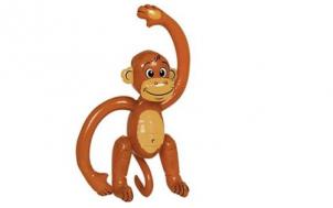 hilfe brauche geschenk + Aufblasbarer Affe