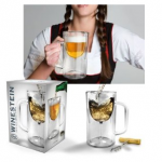 hilfe geschenkidee für freund + Bierkrug oder Weinglas